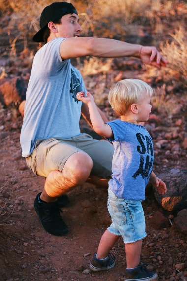 My boys throwing rocks while I took some detail shots of the cactus!