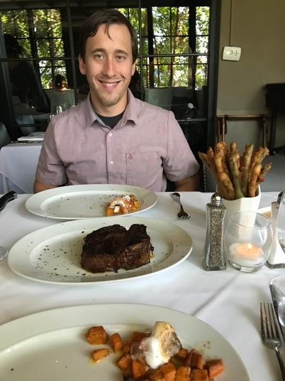 Our dinner at Steak 44 in Scottsdale, Arizona.